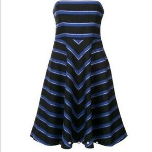 Halston evening collection strapless dress